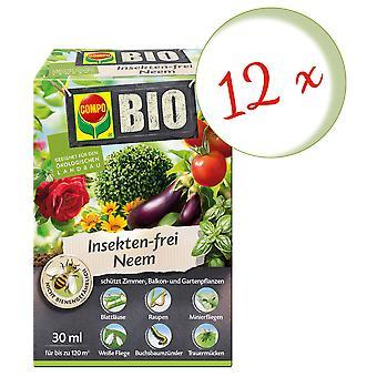 Sparset: 12 x COMPO BIO Neem sans insectes, 30 ml