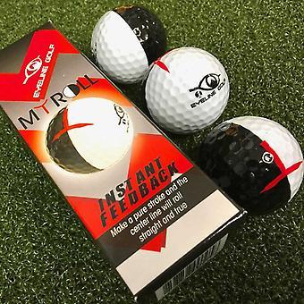 EyeLine MyRoll Instand Feedback Training Golf Balls 2 Colour 3-Pack