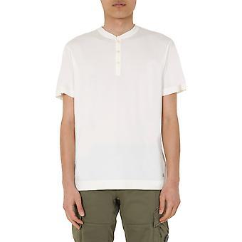 Compañía C.p. 08cmts155a000444g103 Camiseta de Algodón Blanco de Hombres's