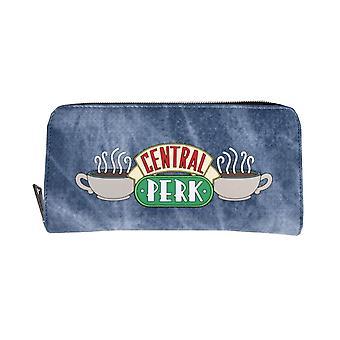 Friends Central Perk Logo Zip-Around Clutch Purse