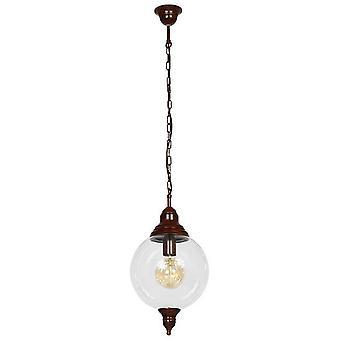 Heather Pendentif Lampe Couleur Patina Laiton métal, verre, L25xP25xA110 cm
