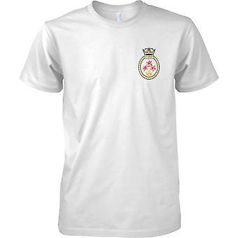 HMS Guernsey - ausgemusterte Schiff der königlichen Marine T-Shirt Farbe