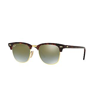 Ray-Ban Clubmaster RB3016 990/9J Shiny Red Havana/Green Mirror Gradient