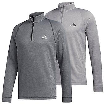 adidas Golf Mens 2020 Midweight Half Zip Mock Neck LC Logo Sweater