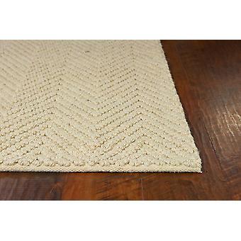 2'x4' Ivoor handgeweven visgraat jute indoor accent vloerkleed