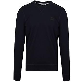 Antony Morato Navy kék emléktábla logo Crew nyak pulóver
