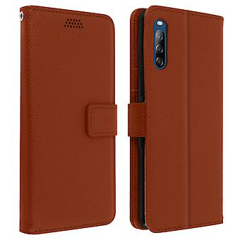 Sony Xperia L4 Folio Case with Video support - Brown