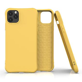 For iPhone 11 Pro Case Solid Slim Case Protective Cover Yellow