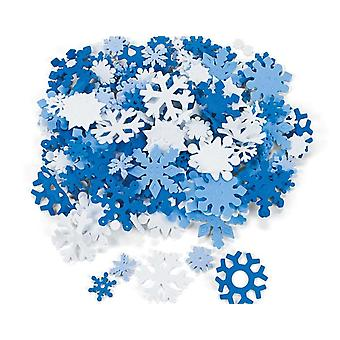 200 Diverse Foam Christmas Snowflakes Shapes voor Kid's Crafts
