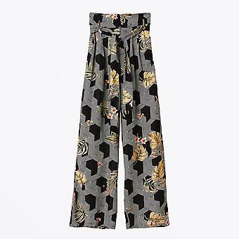 Pyrus  - Rosin Palazzo Printed Trousers - Black/Multi