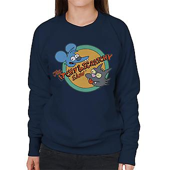 Los Simpsons Itchy And Scratchy Show Sudadera de mujer