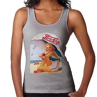 Pepsi Cola Retro 1940s Beach Lady Women's Vest