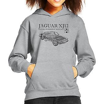 Haynes propietarios taller 0242 Manual Jaguar XJ12 negro sudadera con capucha para niños