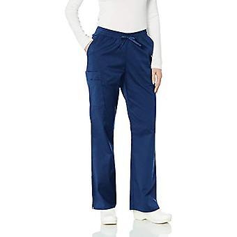 Essentials Women's Quick-Dry Stretch Scrub Pant, Navy, XX-Large