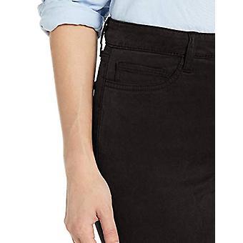 Brand - Daily Ritual Women's Sateen High-Rise Skinny Pant, Black 10