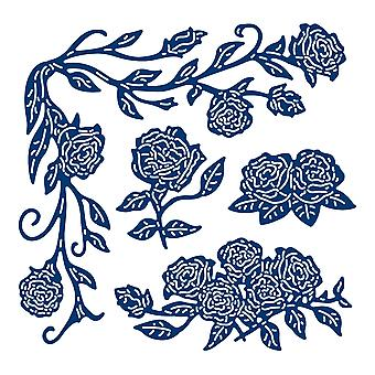 Tattered Lace Ornate Corner Roses Die Set