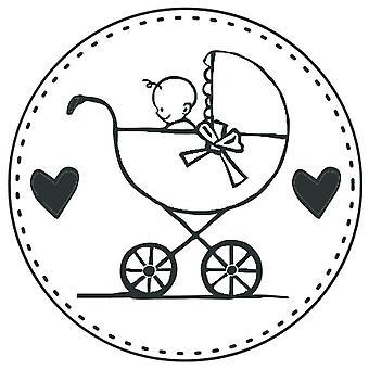 Aladine Rubber Stamp Baby Kinderwagen