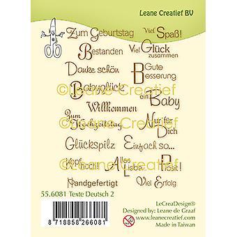 Leane Creatief tyske følelser 2 klare frimærker