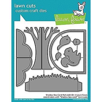 Lawn Fawn Shadow Box Card Park Add-on Dies