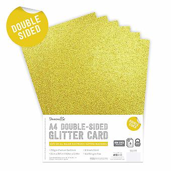 Dovecraft doppelseitige Glitter Pack A4 Gold