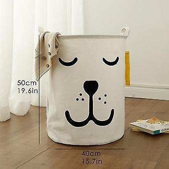 Cotton Laundry Basket Stand Toy Storage Washing Dirty Clothes Big Basket Organizer With Handle