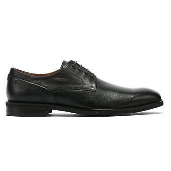 TOWER London Derby Mens Chaussures en cuir noir