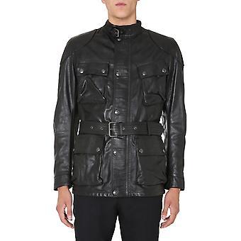 Belstaff 71050527l81n034790000 Men's Black Leather Outerwear Jacket