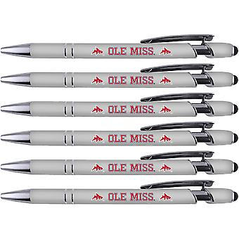 30514, Greeting Pen Ole Miss Mississippi Soft Touch Enduit Métal 6 Pack 30514