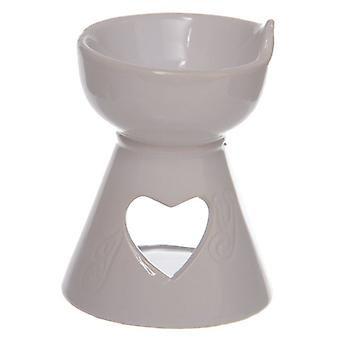 Puckator Heart Cut Out Oil Burner White