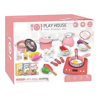 Children's kitchen toy set pretend game, simulation miniature kitchen toy
