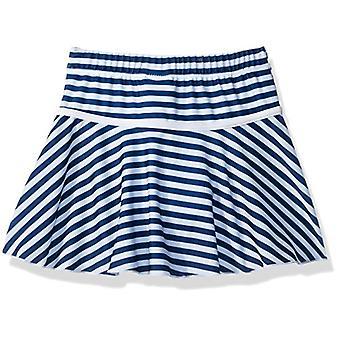 Flap Happy Big Girls' UPF 50- Swim Skirt with Built in Bikini Brief, Hampton Stripe, 6X