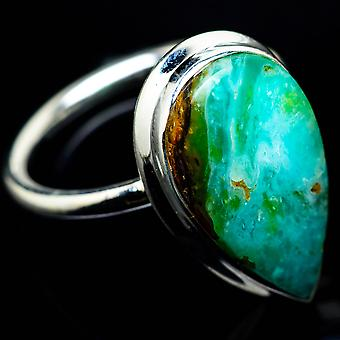 Peruvian Opal Ring Size 7.5 (925 Sterling Silver)  - Handmade Boho Vintage Jewelry RING25028