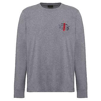 Diesel Diegos Long Sleeve T-Shirt - Grey
