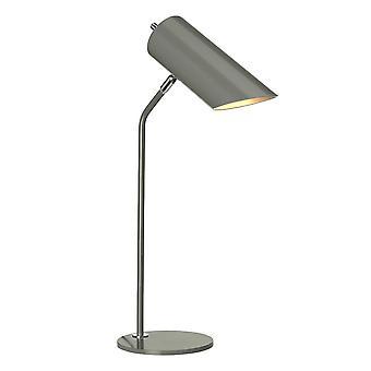 1 Lampe de table claire - Nickel poli gris foncé, E27
