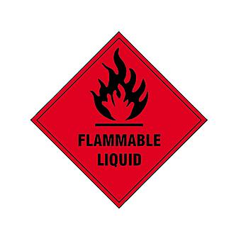 Scan Flammable Liquid SAV - 100 x 100mm SCA1850S