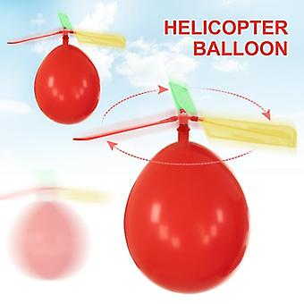 10pcs / Lot Funny Classic Classic Sound Balloon Helicopter Play Flying Toys For Children Outdoor Funny Toy