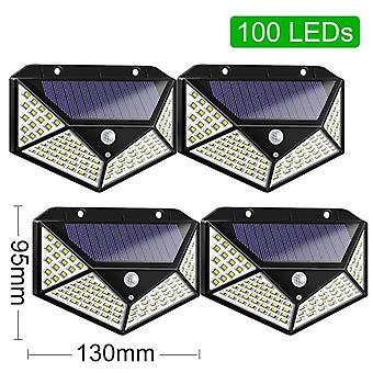 "Solar-lights Outdoor 100""led Bright Motion-sensor Light Wide Angle Wireless"