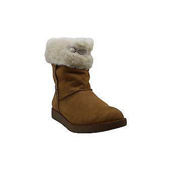 Bebe Women's Shoes Lanaya Faux Fur Closed Toe Mid-Calf Fashion Boots