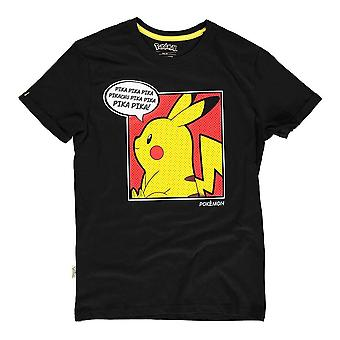 Pokemon Pika Pika Pika PopArt T-Shirt Male Large Black (TS837148POK-L)