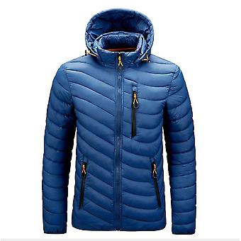 Men's Hooded Winter Coat Warm Puffer Jacket Thicken Cotton Coat With Removable Hood