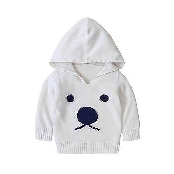 Vauvan puserot sarjakuva kuvio neulottu vastasyntynyt Bebe Tytöt Pupu Puserot Valkoinen