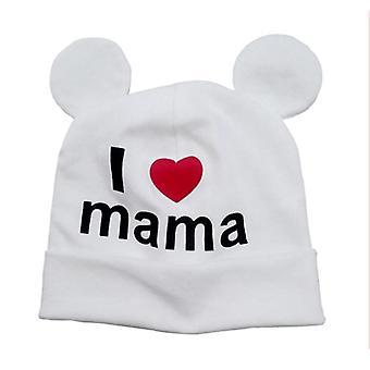 Roztomilý ušný klobúk pre novorodenca - Bavlnená čiapka Beanie