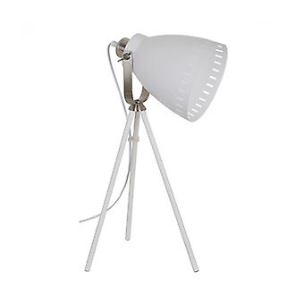 Franklin Industrial e Retro Floor Lamp White Sand, Níquel de Cetim
