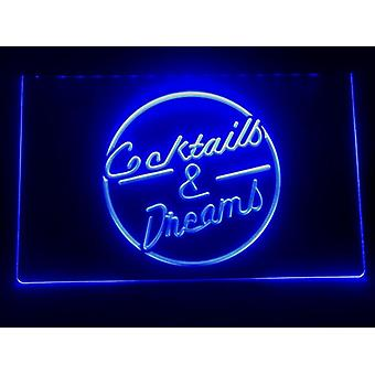 I079 Cocktails & Dream Beer Bar Viini Led Neon Light Sign
