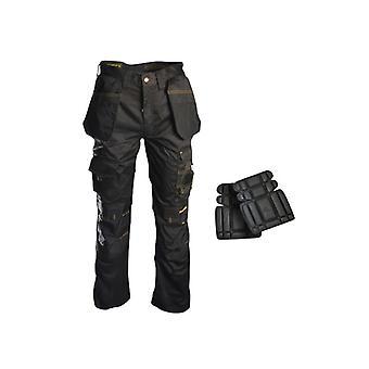 Roughneck Clothing Holster Work Trouser & Knee Pads 38in RNKTROU38AV