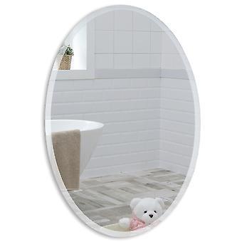 Oval Wall Mirror 50 x 40cm & Demister