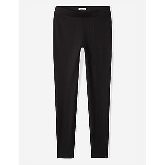 Brand - Daily Ritual Women's Seamed Front, 2-Pocket Ponte Knit Legging, Black, X-Small Long