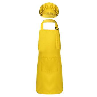 Child Kids Adjustable Apron And Chef Hat Set Kitchen Cooking Uniform Baking