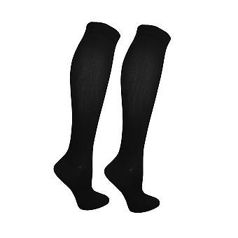 Women's Cable Long Stripe Strumpor över knä lår High School Girl Stocking - (JS068)
