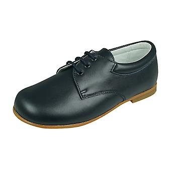Cool Boys Daniel Kids Pelle Pizzo Up Shoes - Navy Blue